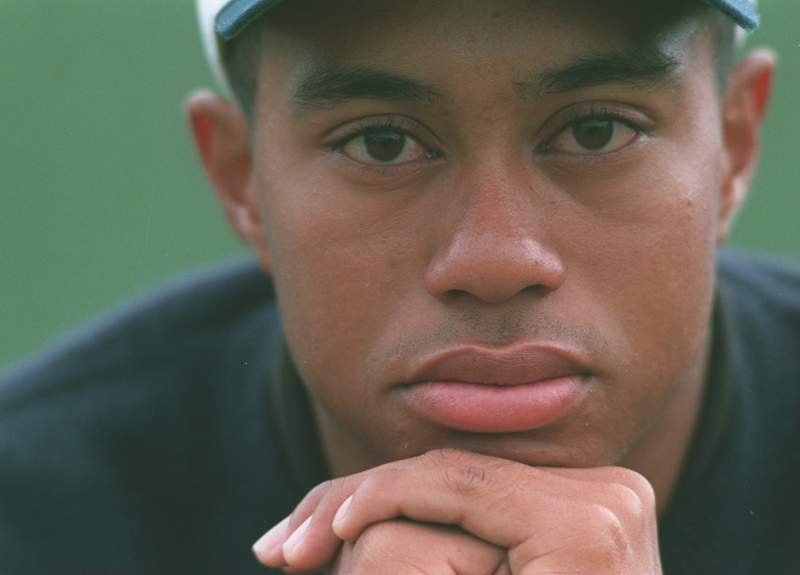 Tiger Woods in 1995 at the Scottish Open Golf Championships.
