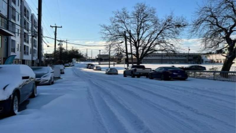 San Antonio covered in snow Feb. 2021