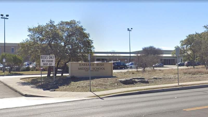 Barbara Bush Middle School in NEISD.