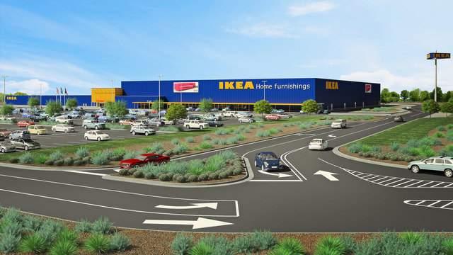 Architectural rendering of future San Antonio area IKEA