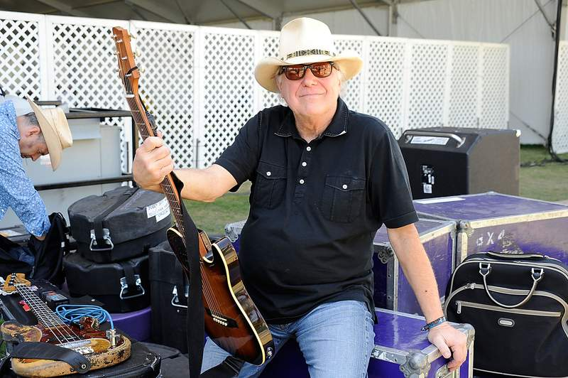 INDIO, CA - APRIL 26:  Musician Jerry Jeff Walker poses backstage during day two of California's Stagecoach Country Music Festival held at the Empire Polo Club on April 26, 2009 in Indio, California.  (Photo by Frazer Harrison/Getty Images)