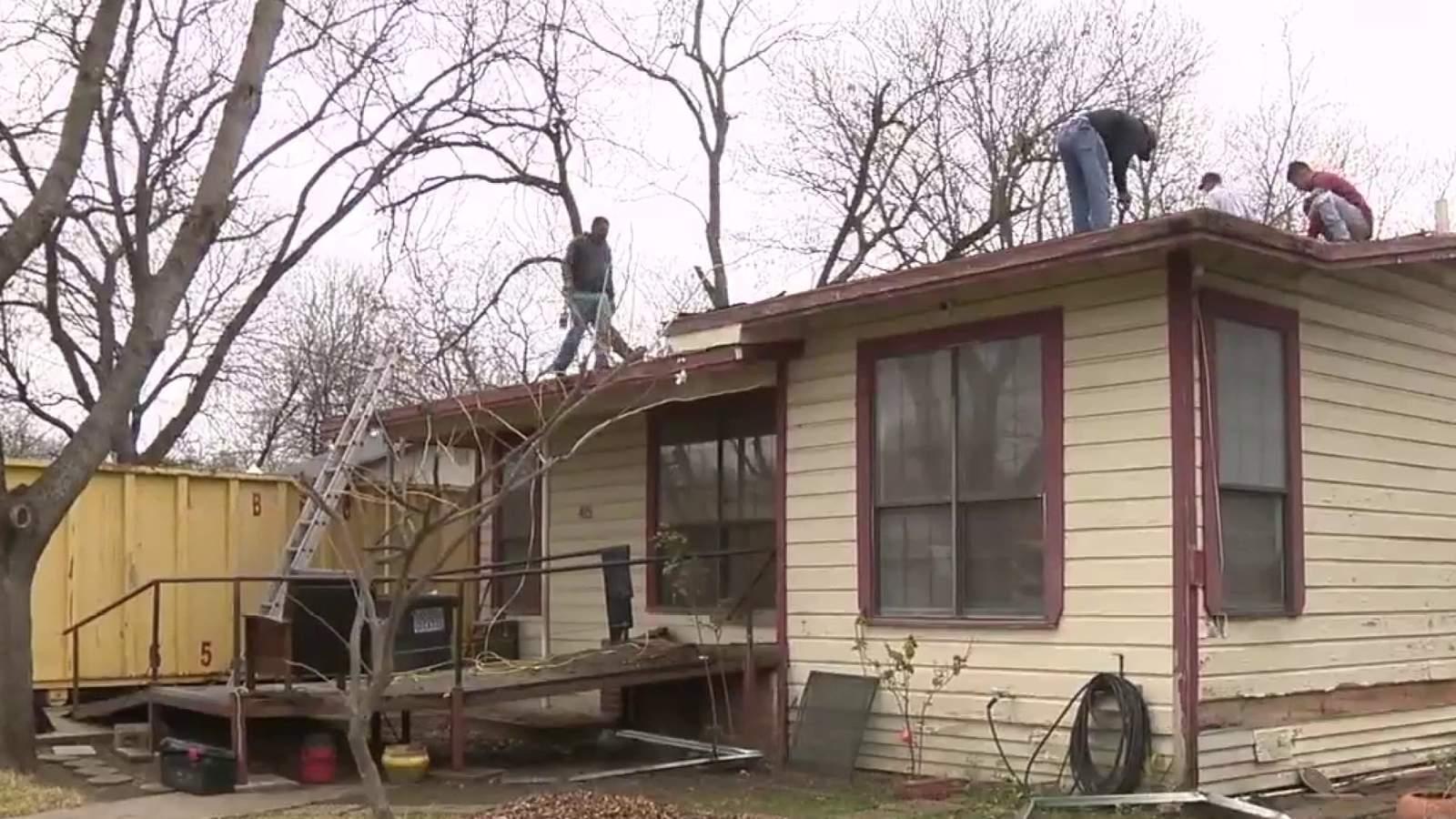 Work underway to restore home of 94-year-old war hero