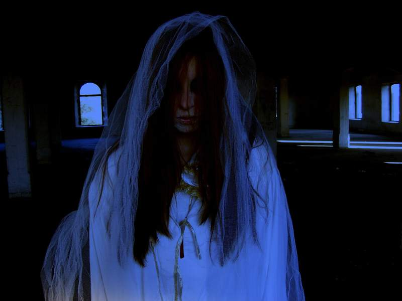 A file image of a scene from a haunted house.