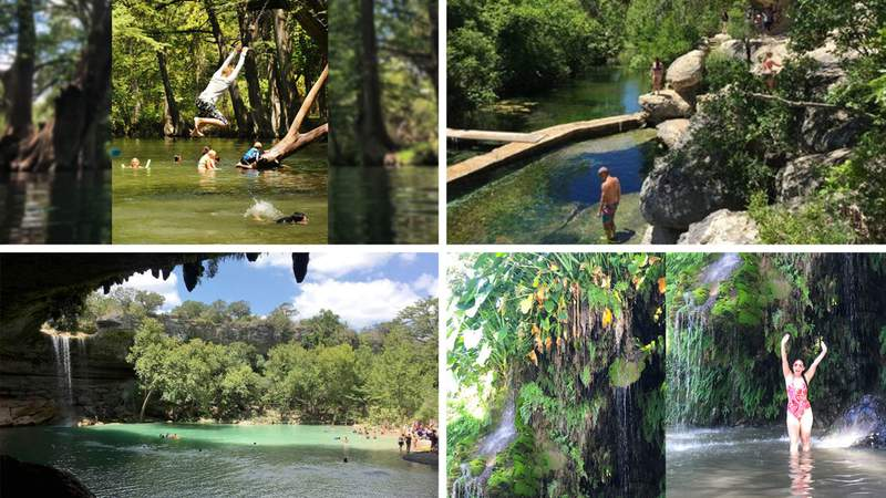 Blue Hole, Jacob's Well, Hamilton Pool, Krause Springs