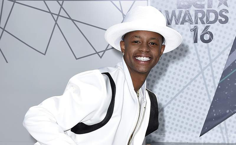 FILE - In this June 26, 2016, file photo, Silento arrives at the BET Awards in Los Angeles. On Monday, Feb. 1, 2021, authorities said Atlanta rapper Silento has been arrested and charged with murder in the January shooting death of his 34-year-old cousin. (Photo by Jordan Strauss/Invision/AP, File)