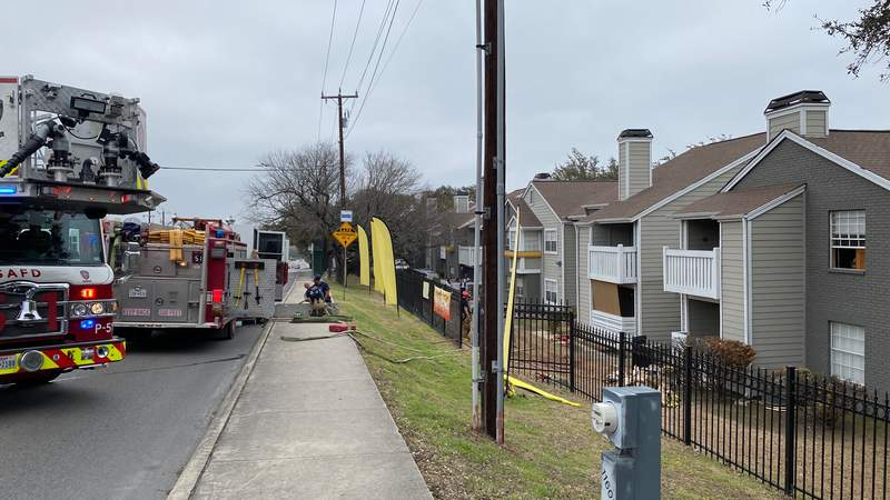 A small fire was sparked by an oven at the Joseph Apartments in the 11600 block of Huebner Road on Feb. 24, 2021.