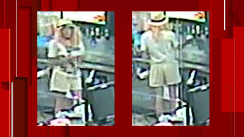 The Hays County Sheriff's Office is seeking assistance after a 30-year-old woman went into a gas station and left a note for a clerk asking the clerk to call 911.