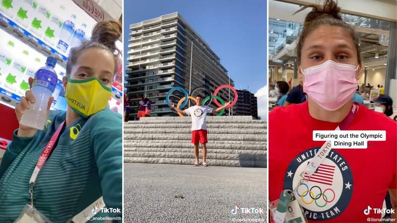 Olympians using TikTok to show off Olympic Village