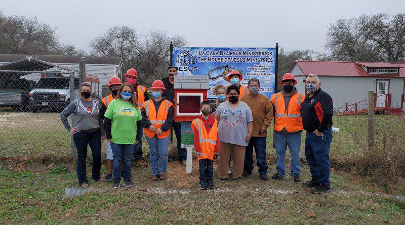 Southside ISD Career & Technical Education students installed six little libraries at local South Side businesses.