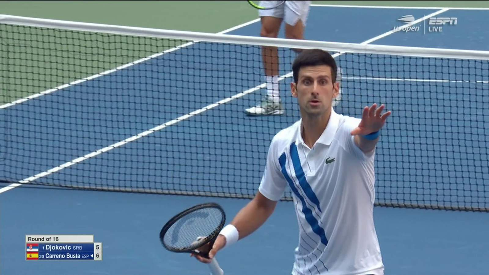 Video Djokovic Out Of Us Open After Hitting Line Judge With Ball