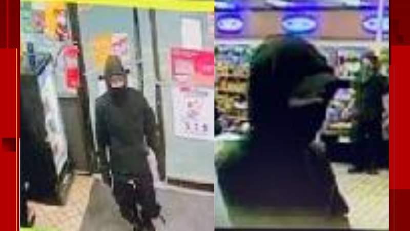 Police, Crime Stoppers are searching for two men involved in a robbery.