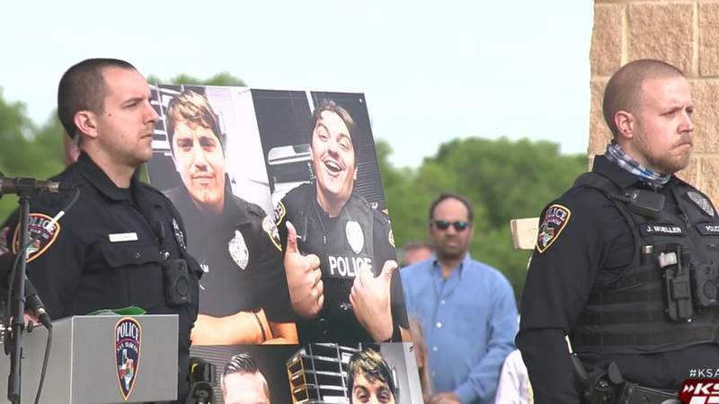 San Marcos holds public memorial on anniversary of fallen police officer Justin Putnam's death