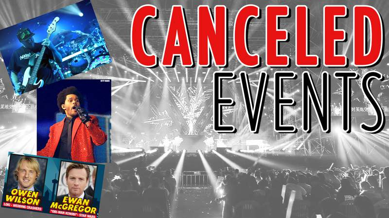 Canceled Events due to COVID-19