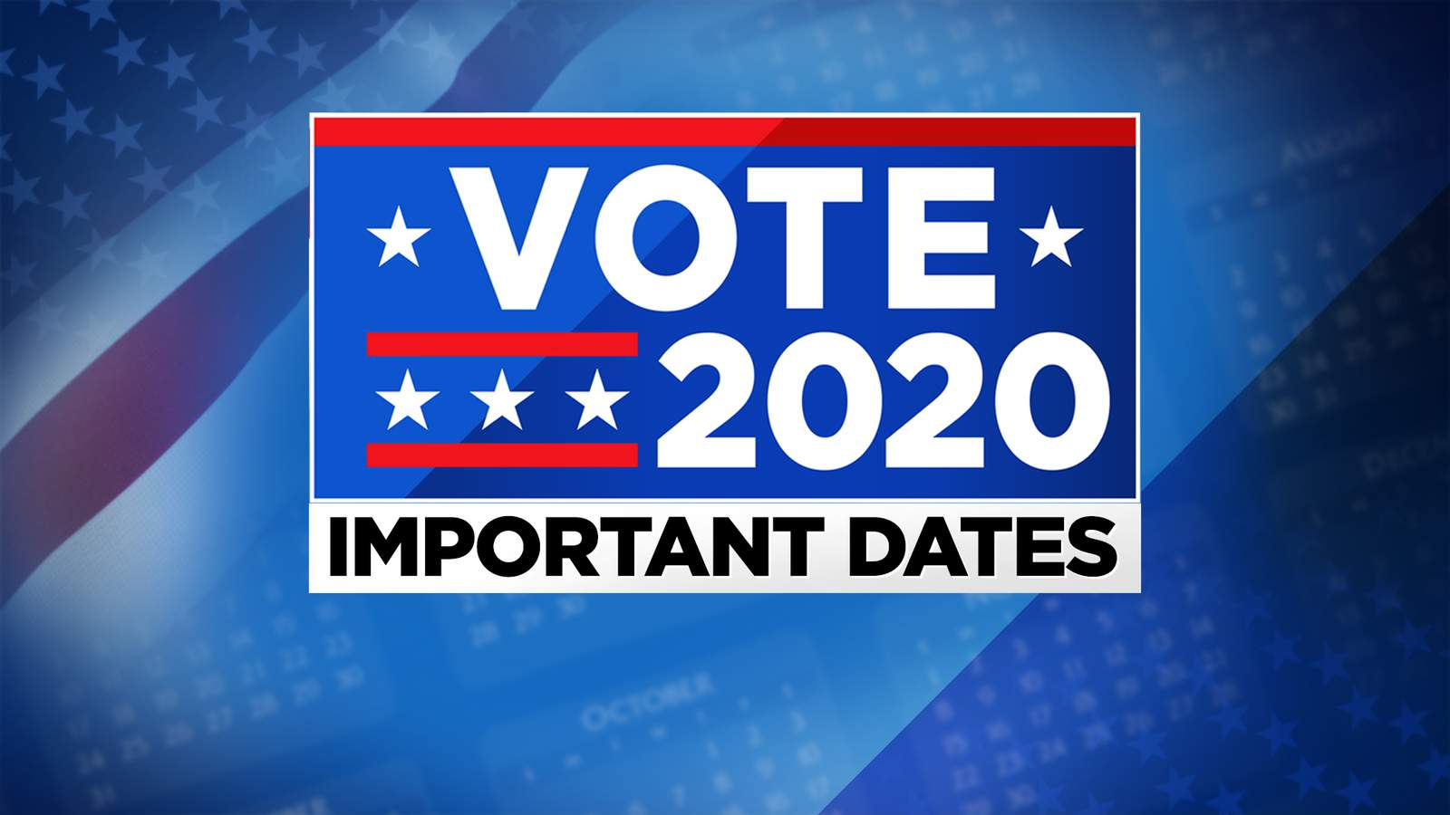 Texas Election Calendar 2021 Here are the 2020 election dates, deadlines you need to know about