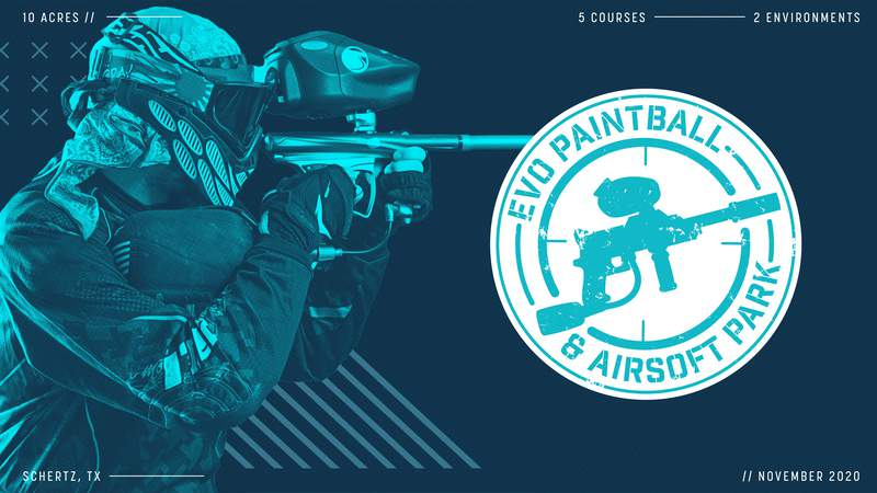 EVO Entertainment to open an all-new paintball and airsoft course at EVO Schertz in late November 2020.