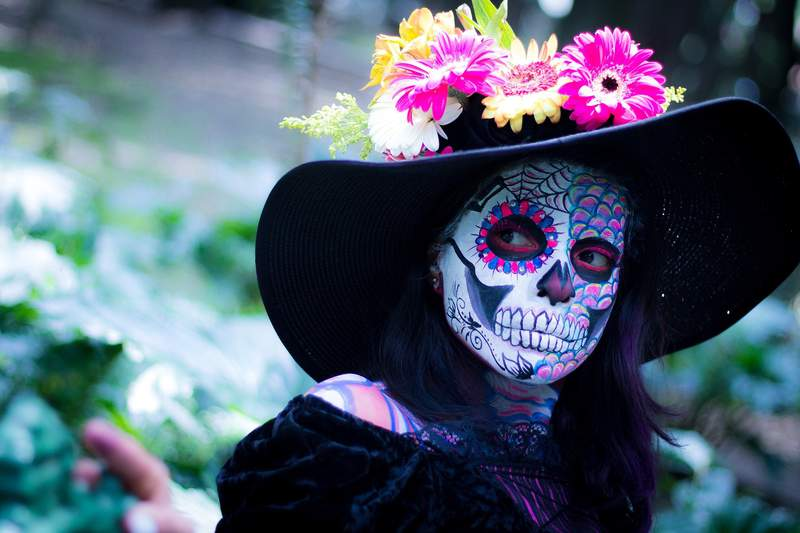 Day of the Dead catrina makeup