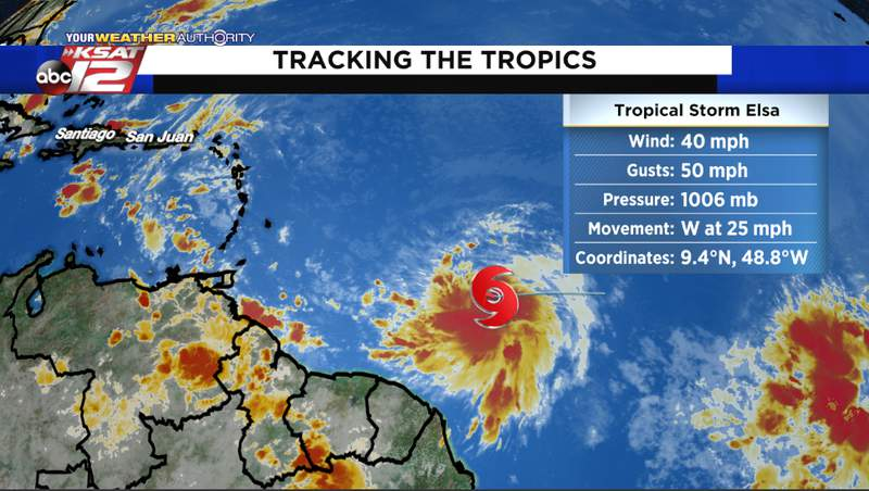 Tropical Storm Elsa has formed over the tropical Atlantic on Thursday.