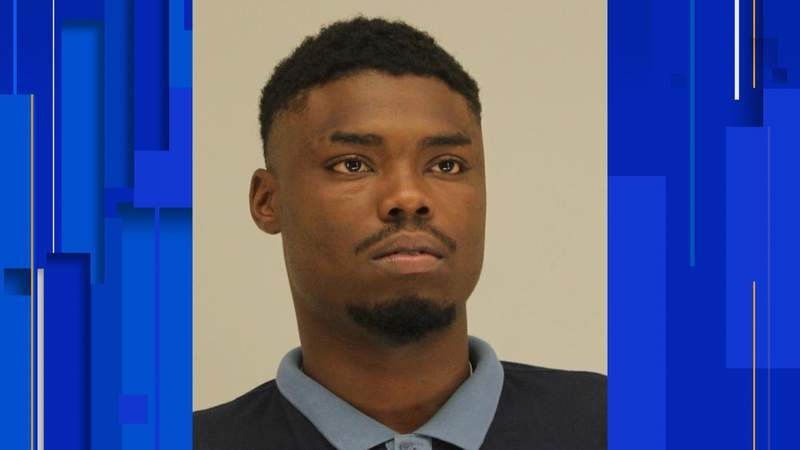 This booking photo provided by the Dallas County Sheriff's Department shows Angelo Walker, a 20-year-old Dallas man arrested and charged with murder in the fatal shooting of a Black transgender woman. Walker was taken into custody Wednesday, July 8, 2020, and is being held in the Dallas County jail on a $900,000 bond.