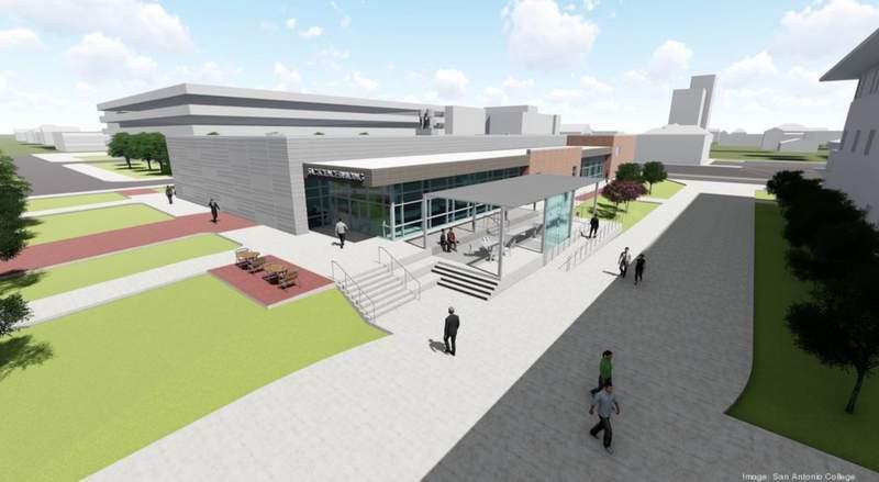 San Antonio College new science structure image.