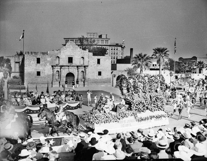 The 1937 Battle of Flowers Parade.