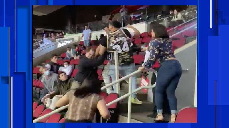 Videos surfacing on social media on Sunday show last night's game between the San Antonio Spurs and the Houston Rockets got very heated between fans.