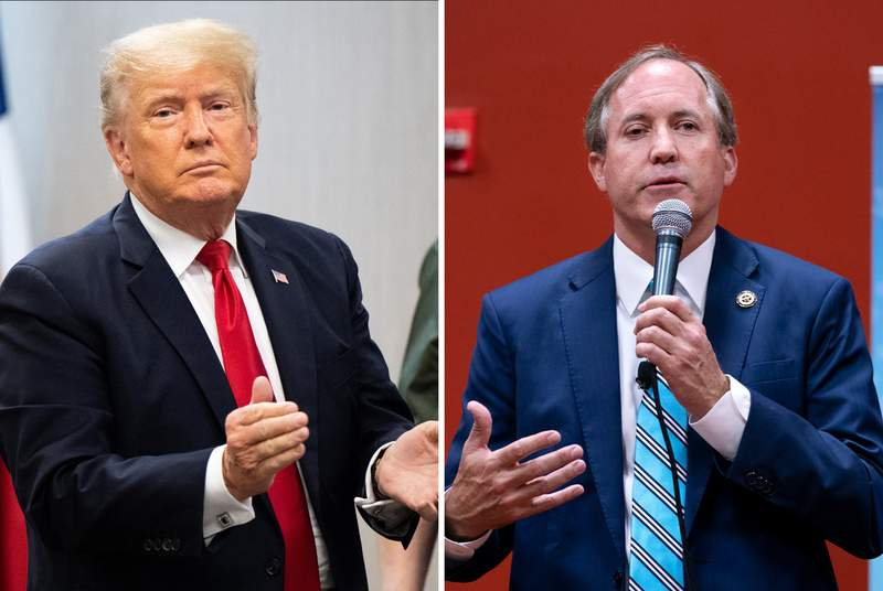 Former President Donald Trump and Attorney General Ken Paxton.