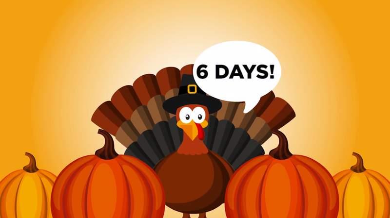 Turkey Day is just 6 days away!