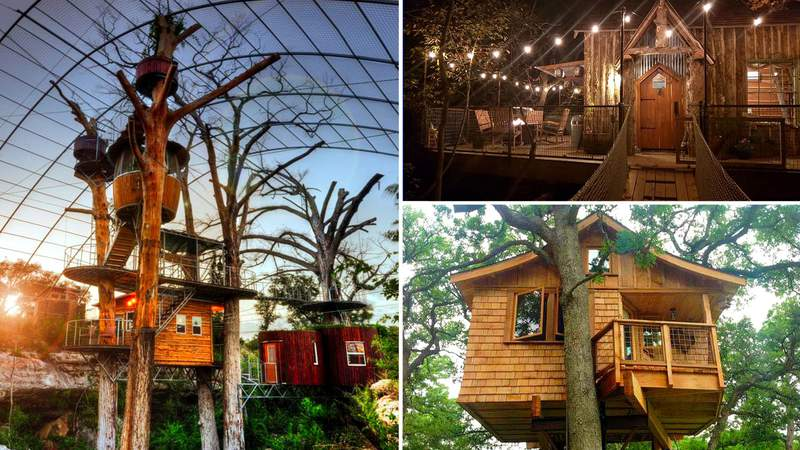 Texas treehouses available for vacation rentals.