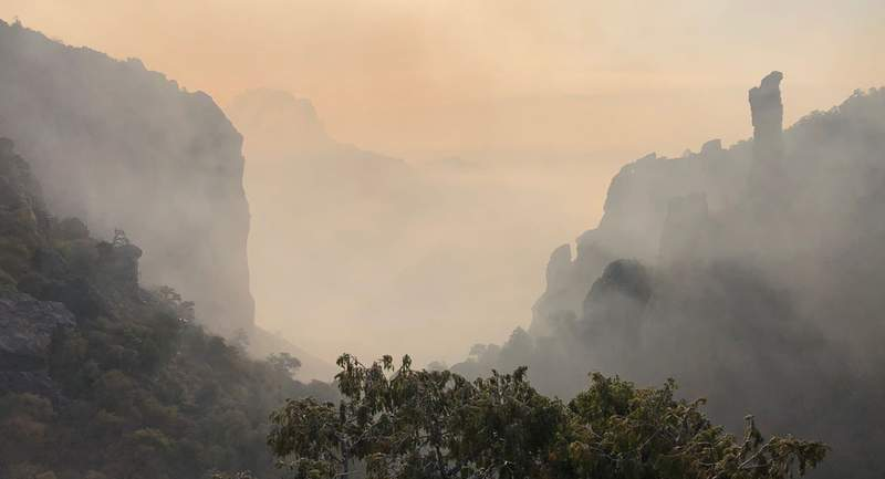 Smoke at Boot Canyon in Big Bend National Park. Image: NPS / M. Woolley
