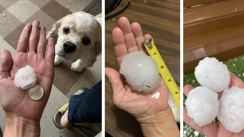 KSAT viewers share their hail pictures