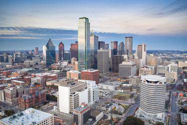 Aerial View of Downtown Dallas.      Getty Images/iStock