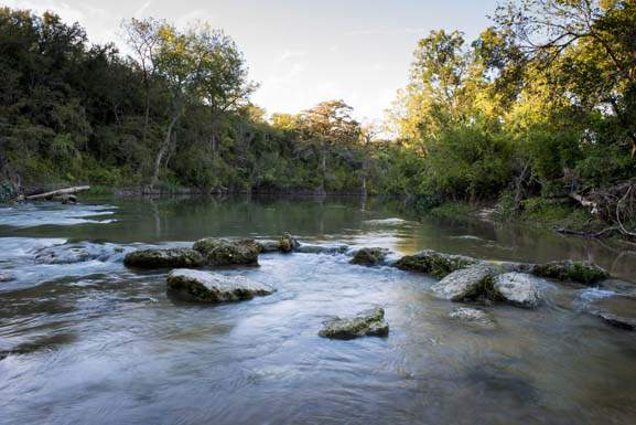 San Marcos River Retreat (this is not the site of the burial ground).