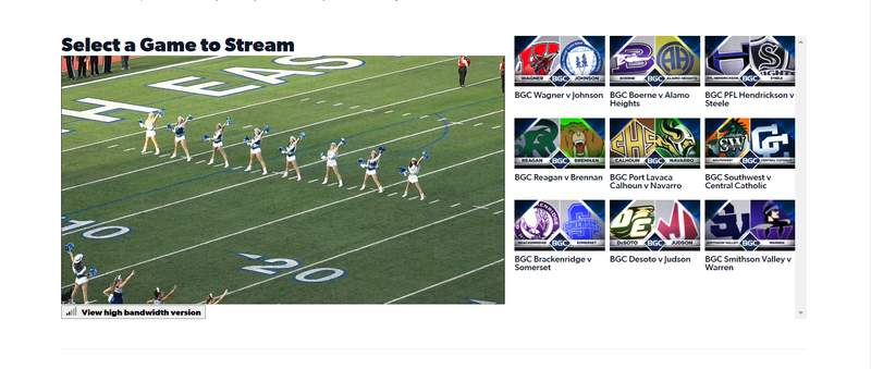 Choose between up to a dozen live games at one time with KSAT's Big Game Coverage streams.