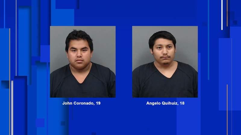 John Coronado, 19, and Angelo Quihuiz, 18