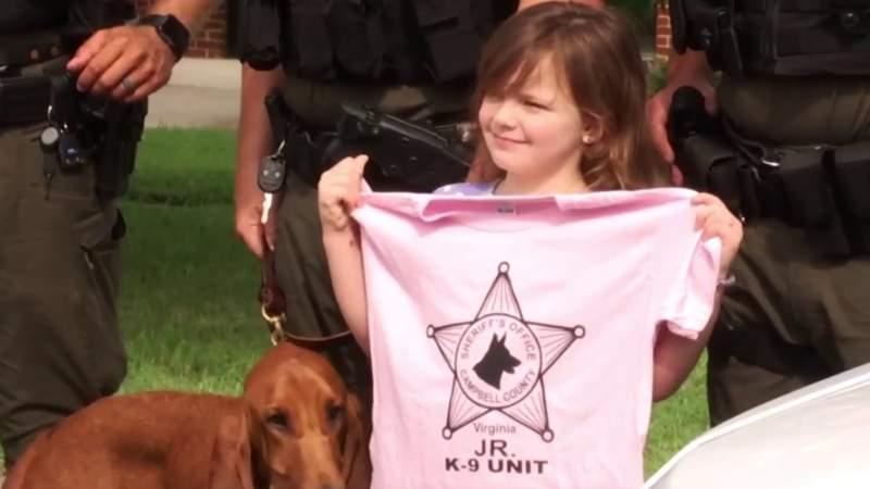 6-year-old donates birthday money to help police get K-9 unit