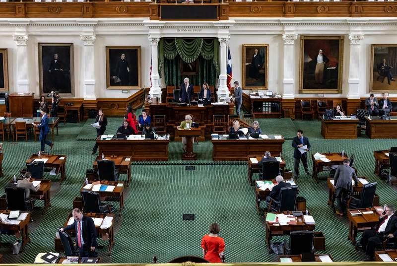 Lt. Gov. Dan Patrick presides over the Senate chambers on May 30, 2021.
