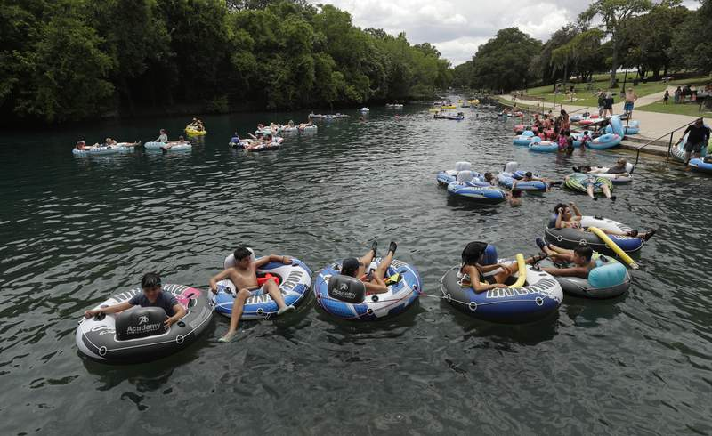 File photo of the Comal River in New Braunfels. (AP Photo/Eric Gay)