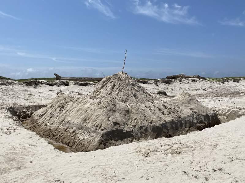 Padre Island National Seashore warns beachgoers to never leave sandcastles behind