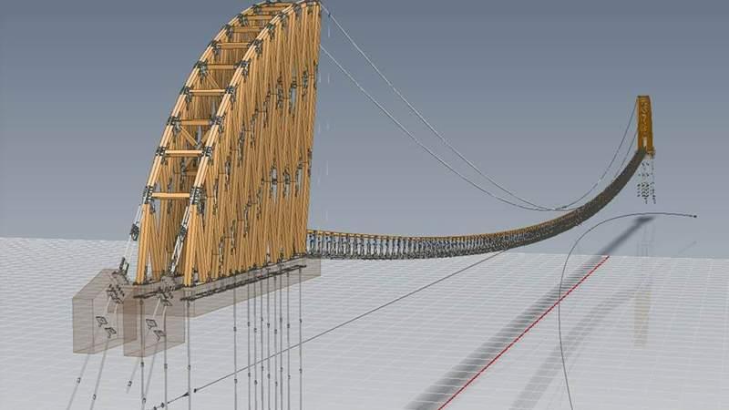 A rendering of SkyBridge Michigan.