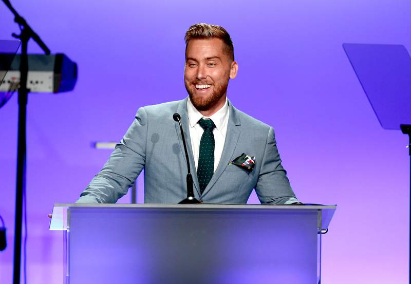 BEVERLY HILLS, CA - MAY 05:  TV personality Lance Bass speaks during the 24th Annual Race To Erase MS Gala at The Beverly Hilton Hotel on May 5, 2017 in Beverly Hills, California.  (Photo by Rich Fury/Getty Images)