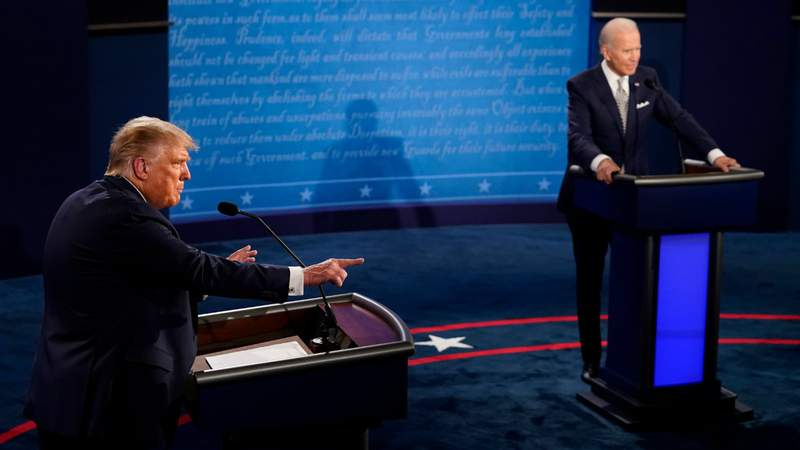 U.S. President Donald Trump speaks during the first presidential debate against former Vice President and Democratic presidential nominee Joe Biden at the Health Education Campus of Case Western Reserve University on September 29, 2020 in Cleveland, Ohio. This is the first of three planned debates between the two candidates in the lead up to the election on November 3. (Photo by Morry Gash-Pool)