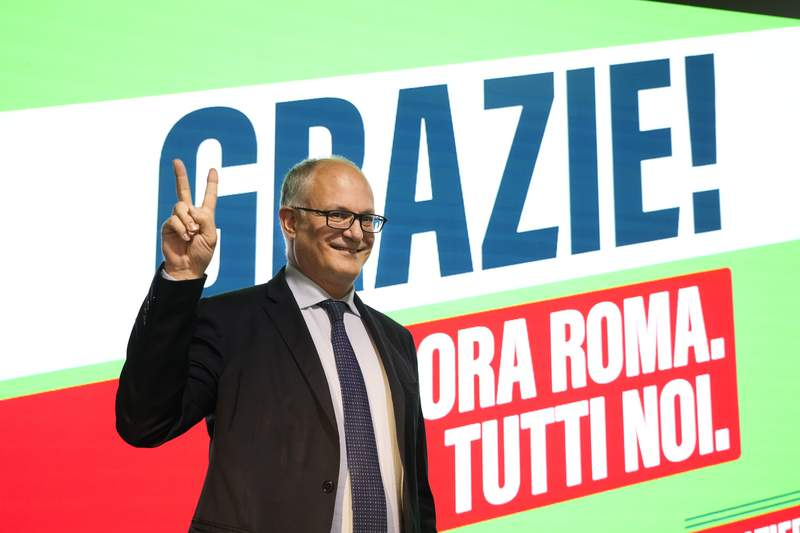 Center-left wins in Rome, elsewhere in blow to Italy's right