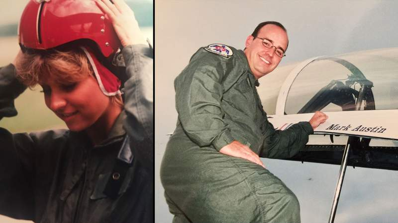 GMSA anchors Leslie Mouton and Mark Austin have both flown with the Thunderbirds.