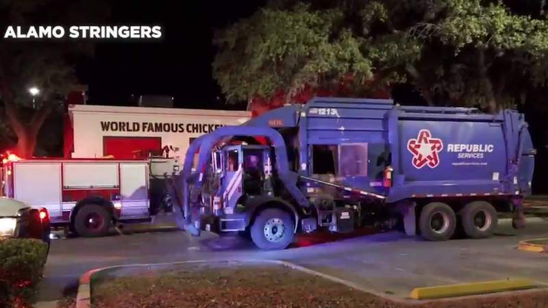 SAPD: Man sleeping in dumpster hospitalized after he was thrown in garbage truck, trapped