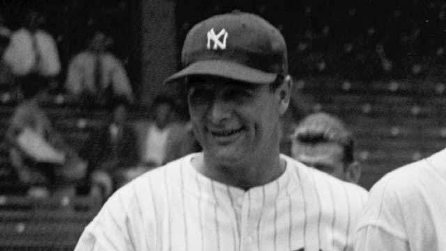 """1903: Hall of Famer first baseman Lou Gehrig, known as the """"Iron Horse"""" for his 2,130-game playing streak, is born in New York City. He played 17 seasons for the New York Yankees, winning six World Series championships. He set the record for career grand slams at 23 and retired with a .340 career batting average, 493 home runs, 2,721 hits and 1,995 RBIs. Gehrig set the consecutive-game streak from June 1, 1925, until April 30, 1939, which was broken by Cal Ripken Jr. in September 1995. He was diagnosed with amyotrophic lateral sclerosis, a disease that now more commonly bears his name, in June 1939 and died on June 2, 1941."""