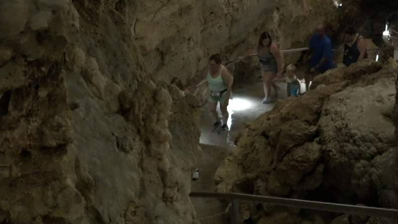 'People are coming back and they're happy to be here': More tourists seek adventure at Natural Bridge Caverns
