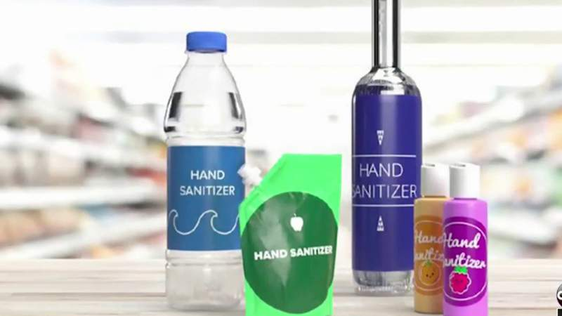 Hand sanitizer packaged in water bottles, beer cans, kids' food pouches, FDA warns