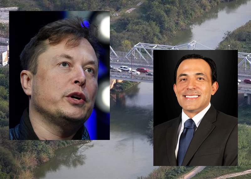 """Elon Musk and Juan """"Trey"""" Mendez."""