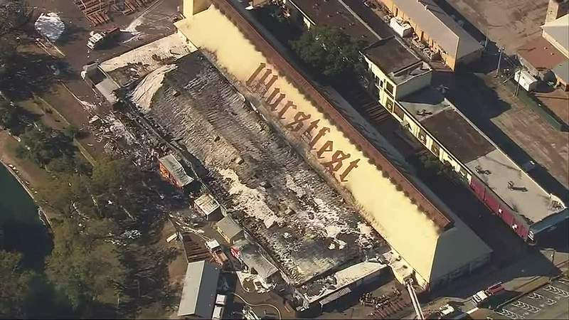 GF Default - WATCH: Fire reignites at Wurstfest grounds in New Braunfels clipped version