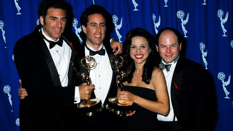 Michael Richards, Jerry Seinfeld, Julia Louis-Dreyfus and Jason Alexander (Photo by Jeff Kravitz/FilmMagic, Inc)